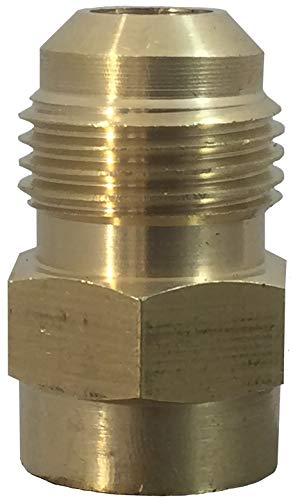 Fuel or Gas Line Brass Fitting [46F0604] Connector Coupling, 3/8 Flare x 1/4 Female NPT, 46F 0604 100% - Brass Flare Female