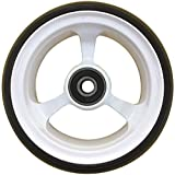 RIANTWHEEL, 4''X 1.4'', Solid, PU Wheels, Wheelchair Casters, Aluminum Rim, one Pair (White)