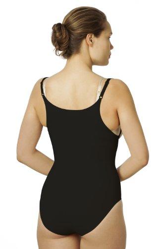 Sleex Body moldeador con el pecho abierto, con tirantes finos y ajustables Negro (Black)
