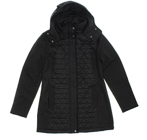 (Marc New York by Andrew Marc Quilted Hooded Jacket for Women (XL, Black))