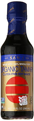 San-J Tamari Soy Sauce, Whole Bean, Wheat Free, 10 oz
