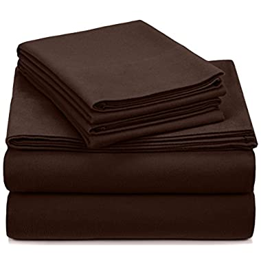 Pinzon Heavyweight Flannel Sheet Set - Queen, Italian Roast