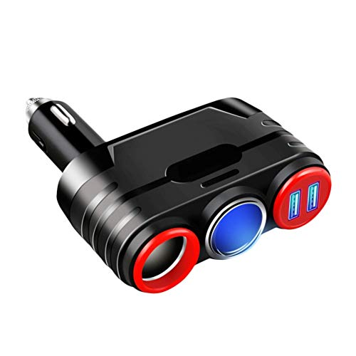 (YUSHHO56T Car Charger Car Charger Charger Wireless 3.1A Car Charger Multifunctional Dual USB Adapter Cigarette Lighter - Black Red)