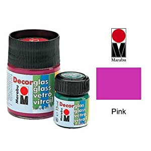 Marabu Decorglas Paint 15ml Pot - Pink