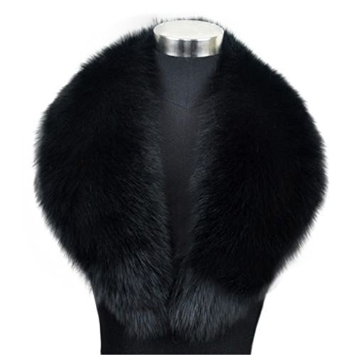 Manka Vesa Winter Warm Cape Fox Fur Collar Neck Scarf Shawl Coat Wrap Stole Scarves L