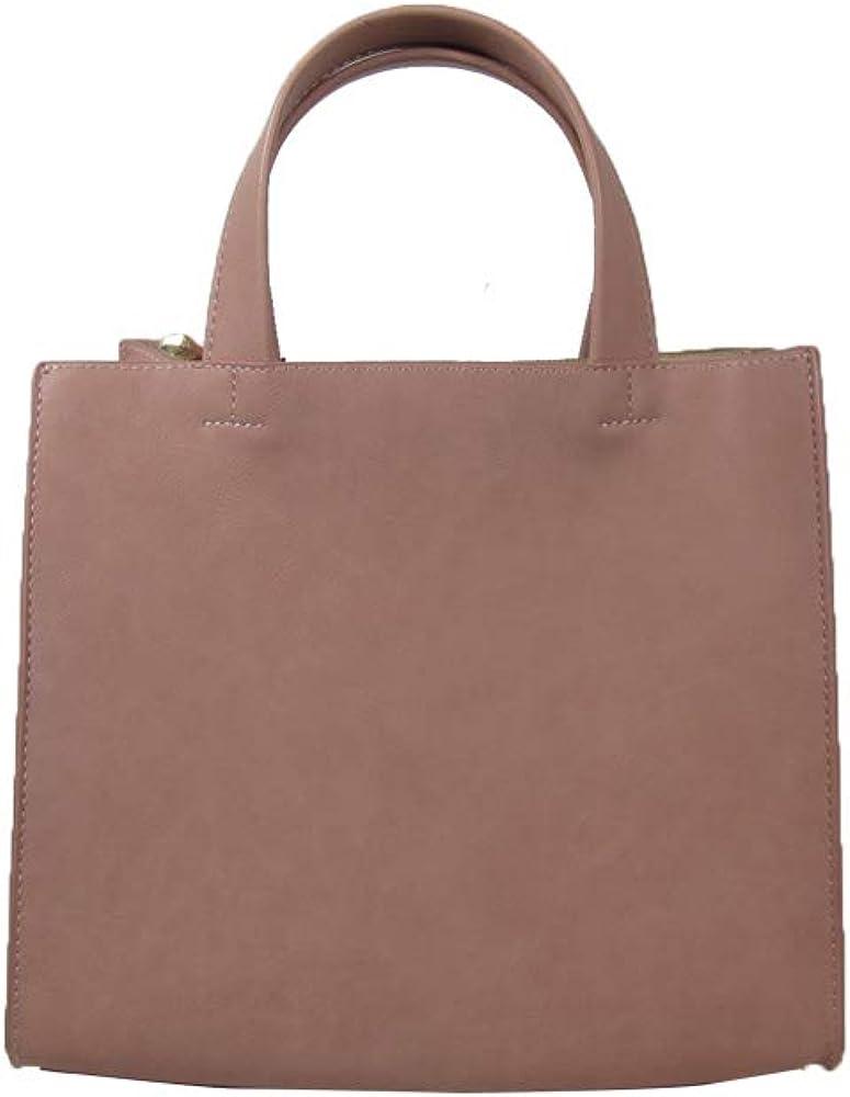 UN BILLION Mine Womens Vegan Faux Leather Signature Square Handbag