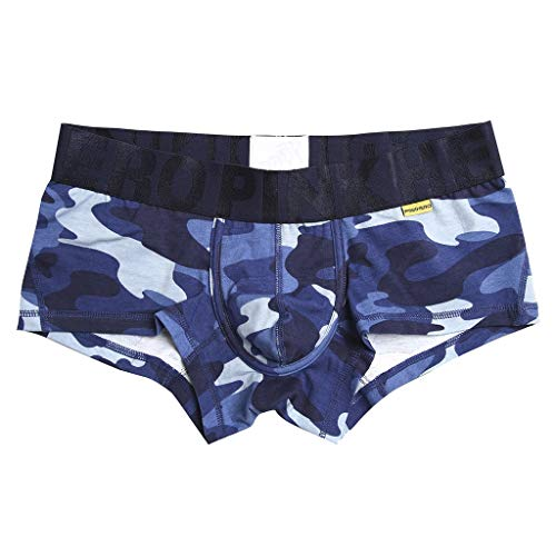 Fitfulvan Men's New Camouflage Underwear Soft Breathable Printed Knickers Short Sexy Comfort Boxer Briefs