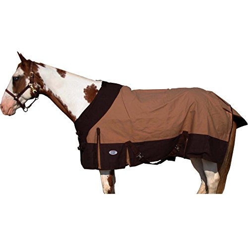 Derby Originals Platinum Wool Lined Lightweight 18oz Triple Gusset Duck Canvas Horse Stable Blanket ()