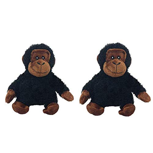 Multipet Look Who's Talking Dog Toy, Chimpanzee Pack of 2