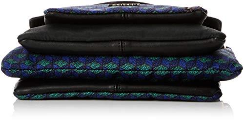 Desigual dam bols_urban mandala petrer axelväska, blå (Azul bläcka), 17 x 29,5 cm