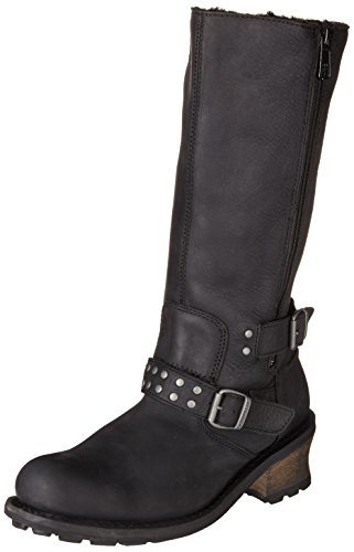Womens Black Harness Boots - 2