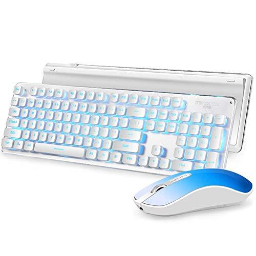 (Widewing GLK350 Wireless Gaming Keyboard Mouse Combo 2.4GHz Backlight 104Keys Keyboard 1200DPI Mouse Combo)