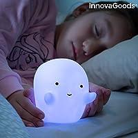 InnovaGoods Lámpara Fantasma LED Multicolor Glowy, Blanco