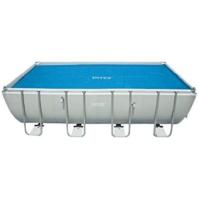"Intex Solar Cover for 18ft X 9ft Rectangular Frame Pools, Measures 17' 8"" X 8' 4"" : Swimming Pool Covers : Garden & Outdoor"