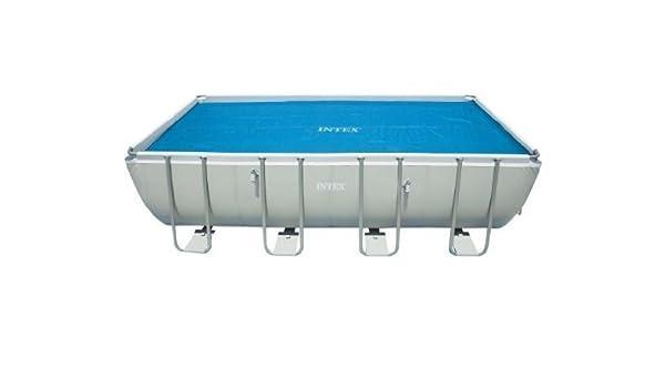 Intex Solar Cover for 18ft X 9ft Rectangular Frame Pools, Measures 17 8