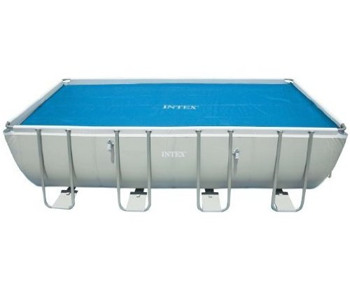 (Intex Solar Cover for 18ft X 9ft Rectangular Frame Pools, Measures 17' 8