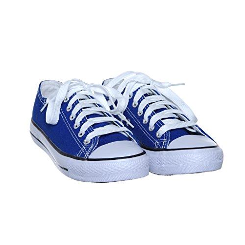Ny Stil!! Kvinners Klassiske Lerret Skate Sneaker Bestselger Rblue