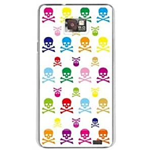 Second Skin AT&T GALAXY S II Print Cover Clear (Skull monogram 2 Multi design by REVOLUTION OF THE MIND)
