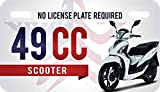 USA 49cc License Plate for Mopeds and Scooters