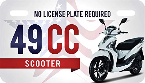 Plate Scooter License - USA 49cc License Plate for Mopeds and Scooters
