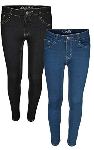 Real Love Girls Skinny Jeans, Black & Blue (2 Pack) Size 16']()
