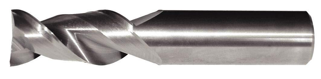 Uncoated Straight Shank 2-Flute 16 mm Shank Dia Carbide AluSurf 5102 HP Aluminum End Mill RH Cut 16 mm Cutting Dia WIDIA Hanita 510216006