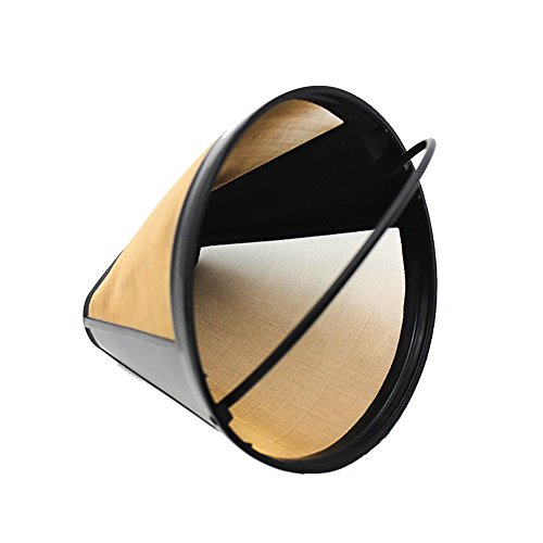 Coffee Filter Specialized Filter Replacement for Cuisinart #4 Coffee Filter Fits Thermal 12-Cup Programmable Coffee Maker, Washable & Reusable (12 Cup Programmable Gold Filter)