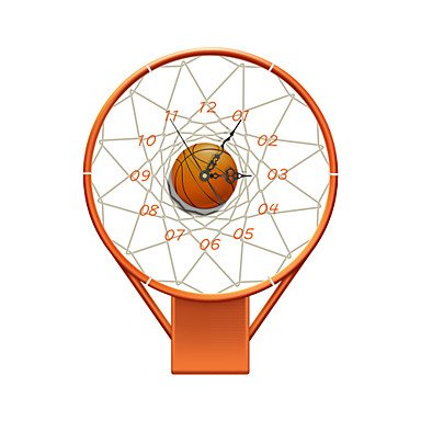 WWJ-ModernContemporary-Houses-3D-Wall-Basketball-Stands-Indoor-Clock-Home-Furnishing-Bedroom
