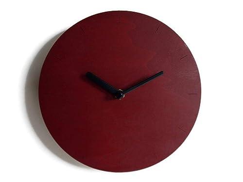 Particolare Orologio Da Parete Design Moderno.Diametro 28 Cm Piccolo Orologio Da Parete Tondo Silenzioso
