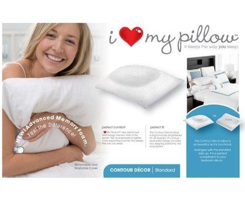LMP Worldwide I Love My Pillow- Contour Latex/Foam Pillow King Size