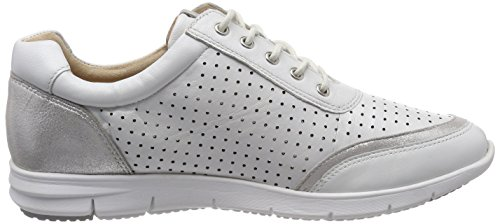 23601 Oxfords 190 Wht Weiß Damen Multi CAPRICE Perl wfSFxH5q