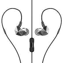 Headphones Sweatproof In-ear Earbuds Sport Earphones with Stereo Mic & Remote Control for iPhone, iPod, iPad, MP3 Players, Samsung, Nokia, HTC, Nexus,etc (black)