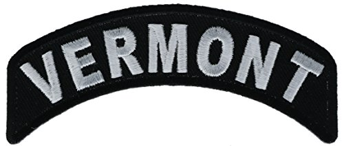 - Vermont State Rocker 4 inch Iron or Sew on Patch IVANP1473
