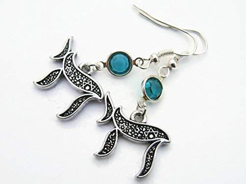 - Chai Birthstone Earrings, Hanukkah Earrings, Jewish Jewelry, Personalized Chanukuah Gift