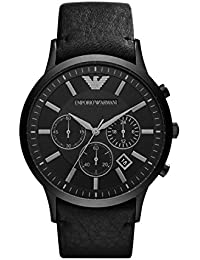 Mens AR2461 Dress Black Leather Watch. Emporio Armani