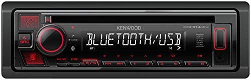 Kenwood Kdc Bt440u Cd Autoradio Mit Bluetooth Freisprecheinrichtung Hochleistungstuner Soundprozessor Usb Aux Spotify Control 4x50 Watt Tastenbeleuchtung Rot Schwarz Navigation