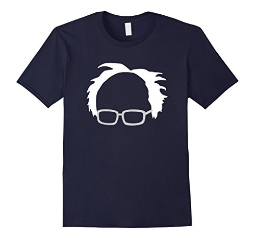 Mens Bernie Sanders Hair And Glasses T Shirt Xl Navy