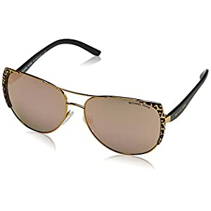 Michael Kors Women's Sadie I Black Gold Leopard/Black/Gold Mirror One Size