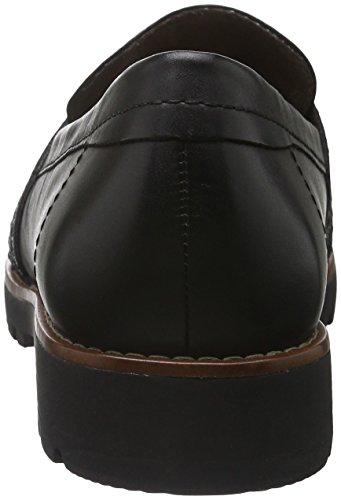 Jana Women's 24701 Moccasins, Black Black (Black 001)
