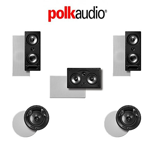 Polk Audio 265-RT 5.0-Ch Vanishing Series in-Wall/in-Ceiling Home Theater System (265-RT + 80F/X-RT + 255C-RT)