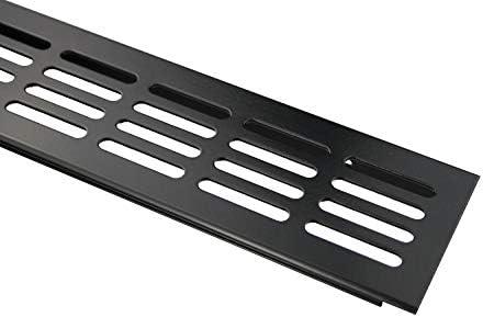 L/üftungsgitter Aluminium Stegblech Breite 60 mm Diverse L/ängen Schwarz pulverbeschichtet 300 mm