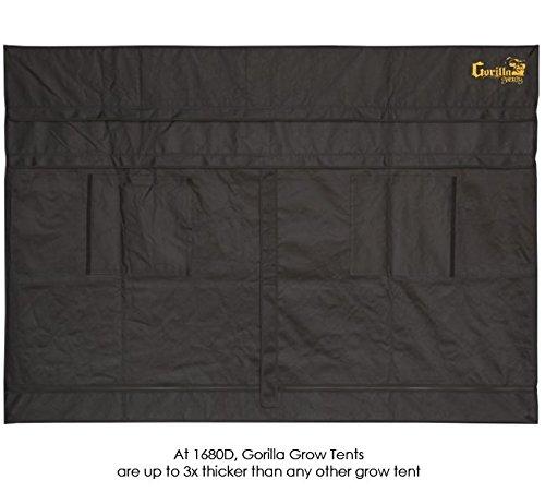 "41MxpH753SL - 4'x8' Gorilla Grow Tent SHORTY w/ 9"" Extension Kit"