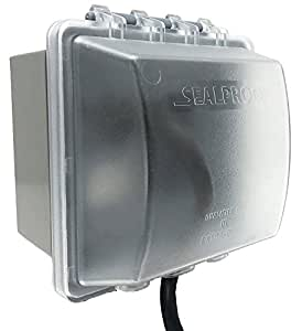 Sealproof 2 Gang Weatherproof In Use Electrical Power Outlet Cover Double Gang