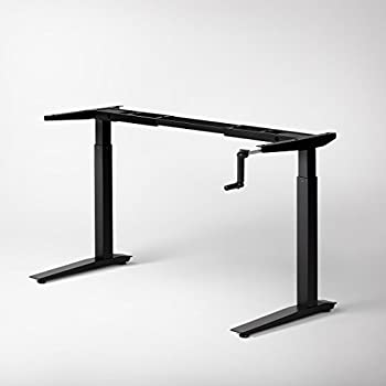 Amazon Com Jarvis Crank Powered Standing Desk Frame Only
