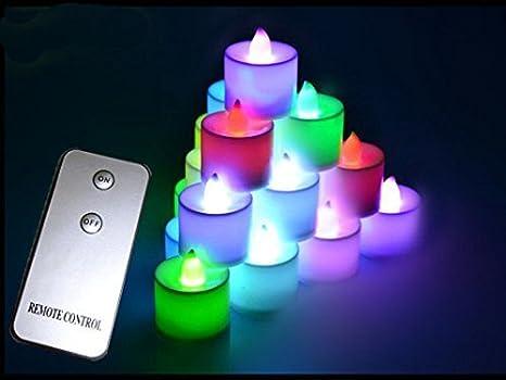 Ocamo Velas electrónicas de decoración de la Boda, Velas led, Velas de Control Remoto, (luz Amarilla), Control Remoto no Incluido