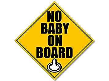 no baby on board condom sticker funny car birth control