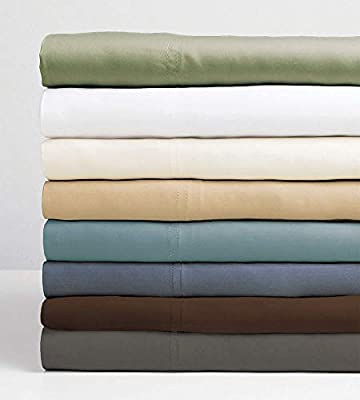 Cariloha Resort Bamboo Sheets 4 Piece Bed Sheet Set - Luxurious Sateen Weave - 100% Viscose from Bamboo Bedding