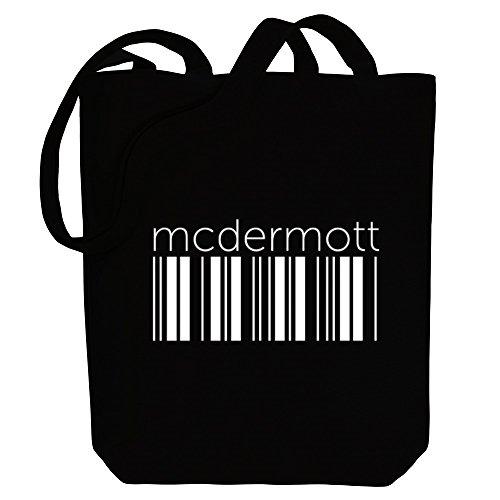 barcode Canvas Bag Last Idakoos McDermott McDermott Idakoos barcode Names Tote wnv0IqBa