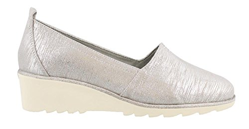 Tamaris 24311 Damen Slipper Silber