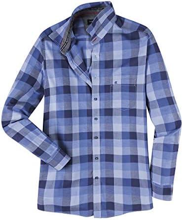 Casamoda Camisa Manga Larga Oversize Estampado Cuadros Tonos ...